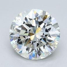 4.05-Carat Round Diamond Ideal I SI2
