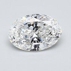 1.00-Carat Oval Diamond Very Good E VVS2