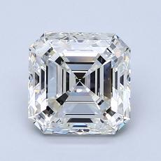 Pierre recommandée n°3: Diamant taille Asscher 1,90 carat