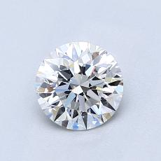 0.80-Carat Round Diamond Ideal D VVS2