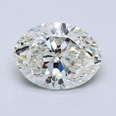 1.40-Carat Oval Diamond Very Good J SI2