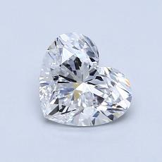 Pierre recommandée n°3: Diamant taille cœur 0,86carat