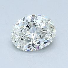 1.02-Carat Oval Diamond Very Good J VS2