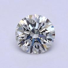 1.30-Carat Round Diamond Ideal I VVS1