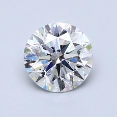 推荐宝石 1:1.00克拉圆形切割钻石