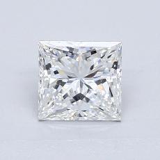 推荐宝石 4:1.36 克拉公主方形钻石