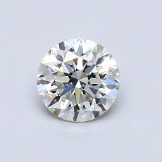 0.70-Carat Round Diamond Ideal H VVS1