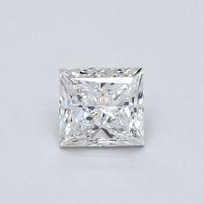 Recommended Stone #1: 0.48-Carat Princess Cut Diamond