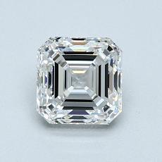 1.01-Carat Asscher Diamond Very Good F VS1
