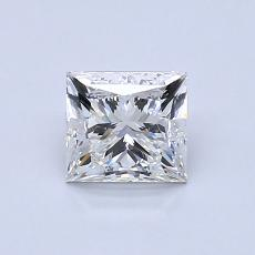 Recommended Stone #3: 0.89-Carat Princess Cut Diamond