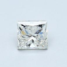 0.95-Carat Princess Diamond Good J SI2
