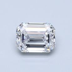 所選擇的鑽石: 0.74  克拉綠寶石形切割鑽石