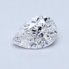 0.71-Carat Pear Diamond Very Good D VVS2