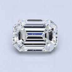 1.01-Carat Emerald Diamond Very Good G SI1