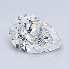 1.00-Carat Pear Diamond Very Good E VS2