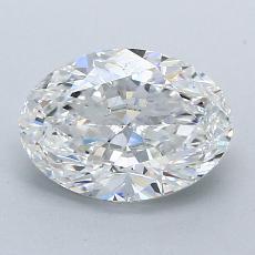 1.50-Carat Oval Diamond Very Good E VS1