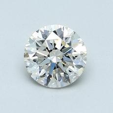 ターゲットの石:0.90カラットのラウンドカットダイヤモンド