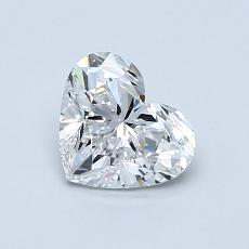 0.80-Carat Heart Diamond Very Good D VVS2