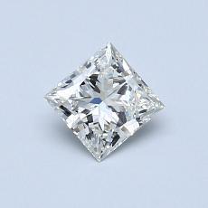 推荐宝石 3:0.50 克拉公主方形钻石