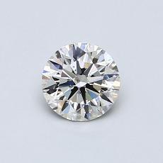 0.55-Carat Round Diamond Ideal I VS2