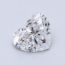 推薦鑽石 #2: 1.20 克拉心形切割鑽石