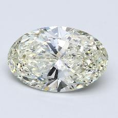 目标宝石:3.10克拉椭圆形切割钻石