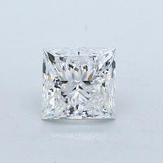 1.00 Carat 公主方形 Diamond 非常好 F SI2