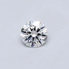 目标宝石:0.23克拉圆形切割钻石