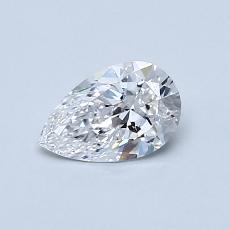 0.55-Carat Pear Diamond Very Good D VVS2
