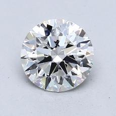1.23-Carat Round Diamond Ideal F VVS2