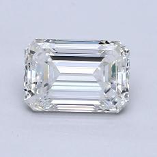 1.21-Carat Emerald Diamond Very Good H VVS1
