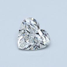 Pierre recommandée n°4: Diamant taille cœur 0,50carat
