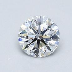0,76-Carat Round Diamond Ideal D VS2