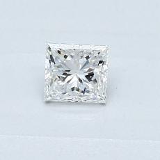 0.30 Carat 公主方形 Diamond 非常好 E SI2