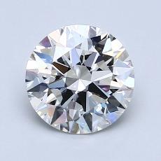 1.23-Carat Round Diamond Ideal E VVS2