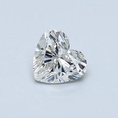 Pierre recommandée n°3: Diamant taille cœur 0,42carat