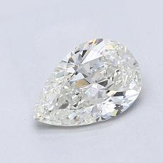 所選擇的鑽石: 0.87 克拉梨形鑽石