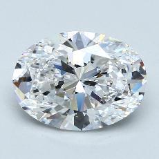 推薦鑽石 #1: 3.01 克拉橢圓形切割鑽石