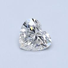 ターゲットの石:0.50カラットのハートカットダイヤモンド