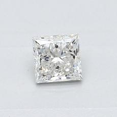 0.40-Carat Princess Diamond Very Good H SI2