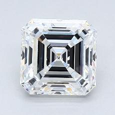 Recommended Stone #2: 1.72-Carat Asscher Cut Diamond