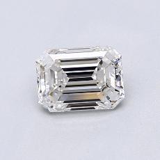 0.70-Carat Emerald Diamond Very Good F VVS1