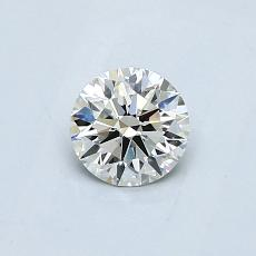 0.50-Carat Round Diamond Ideal J VVS2