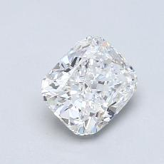 0.91-Carat Cushion Diamond Very Good E VVS1