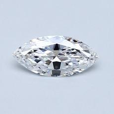 所選擇的鑽石: 0.40  克拉欖尖形切割鑽石