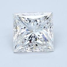 1.50-Carat Princess Diamond Very Good F VVS2