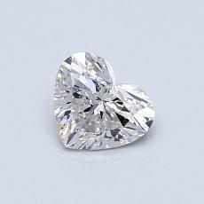 オススメの石No.2:0.50カラットのハートカットダイヤモンド