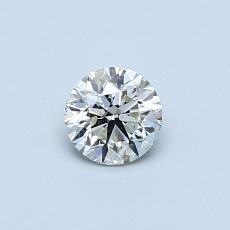 所選擇的鑽石: 0.40 克拉圓形切割鑽石