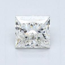 0.90-Carat Princess Diamond Good H VVS2