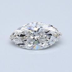 Piedra recomendada 1: con diamante Talla marquesa de 0.50 quilates